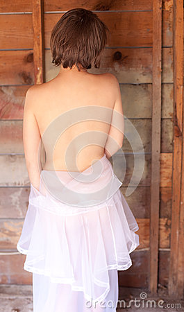 Bare Back and Wooden Wall