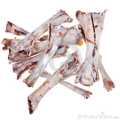 Bare chicken bones