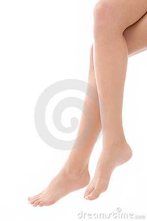 Bare female legs and feet