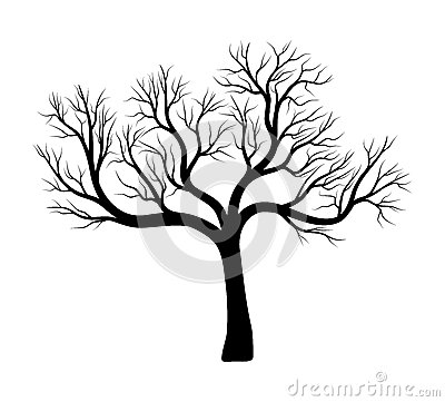 Free Bare Tree Silhouette Vector Symbol Icon Design. Royalty Free Stock Images - 93885959