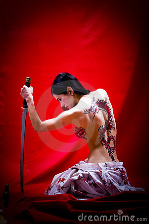 Free Bareback Geisha Stock Images - 6936254