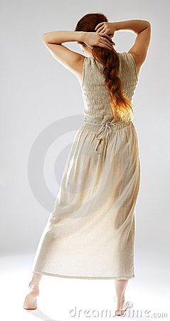 Free Barefoot Girl In Sundress. Stock Photo - 11944540