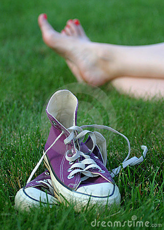Free Barefoot In The Grass Royalty Free Stock Photo - 11725
