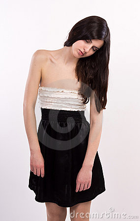 Free Barefoot Sleeping Girl Standing On Tiptoes Stock Images - 21753444