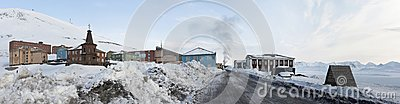 Barentsburg - Russian city in the Arctic, PANORAMA