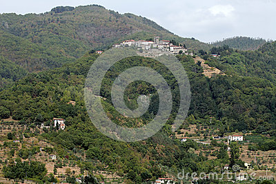 Barga a medieval hilltop town in Tuscany