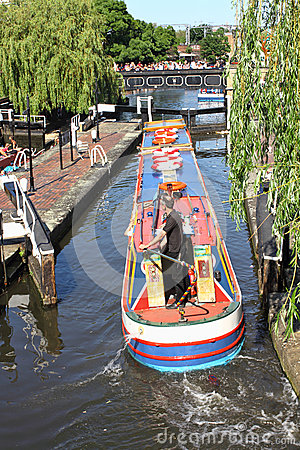 Barge at the Camden Lock Editorial Image