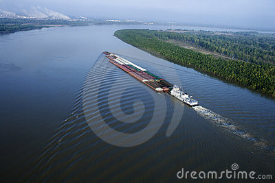 Barge on Mississippi.