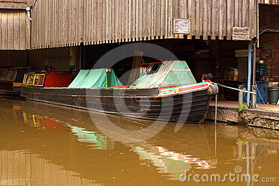 Barge in repair yard 3
