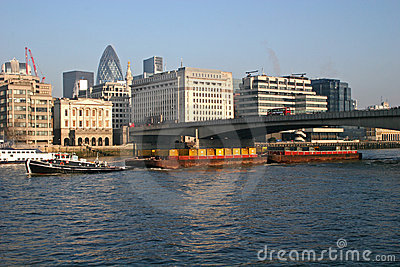 Barge on River Thames