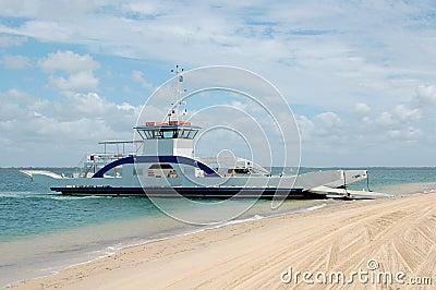 Barge to Fraser Island, Australia