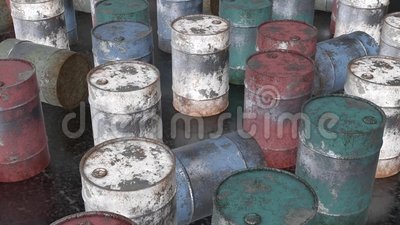Barilotto arrugginito del metallo stock footage