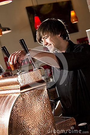 Barista Placing a cup