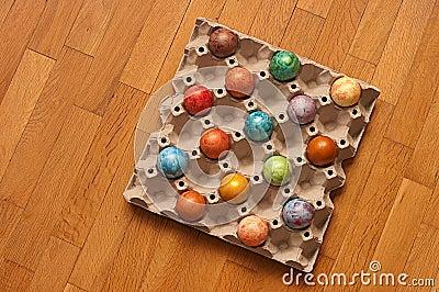 Bark of easter eggs