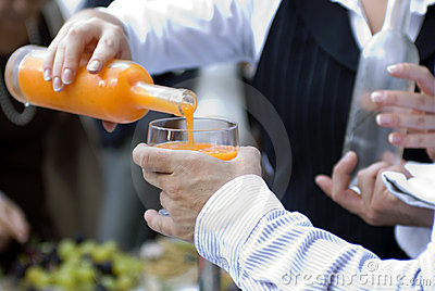 Barman and cocktail
