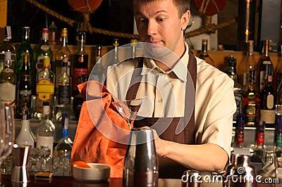 Barman at work - indoors