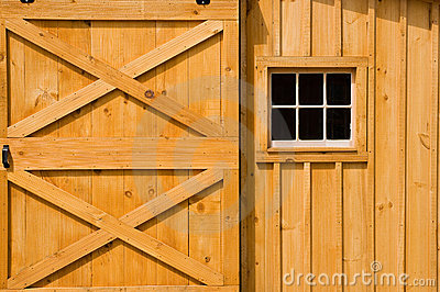 Barn door and windows