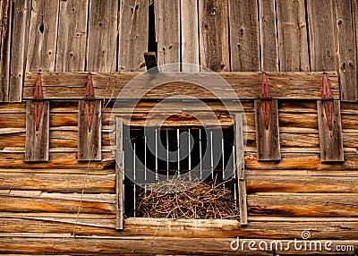 Barn Hay Loft Door Stock Photo Image 55661995