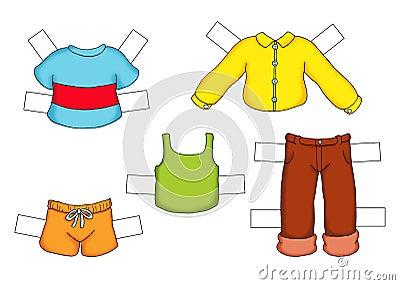 Barn klädd manlig