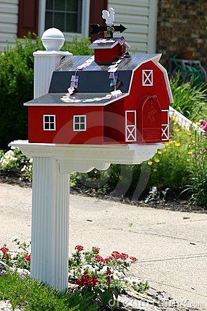 Barn Mailbox Royalty Free Stock Photo Image 1242775