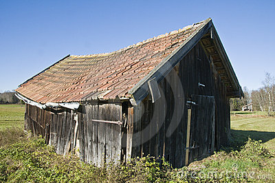 Barn in the moss