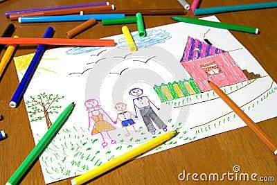 Barn som tecknar s