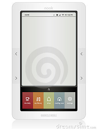 Barnes & Noble Nook Editorial Image