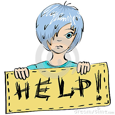 Barnet frågar för hjälp
