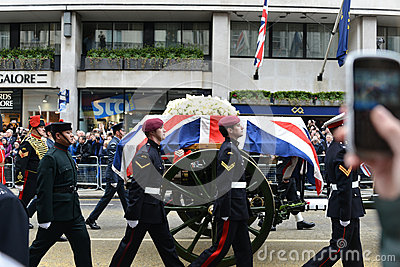 Baroness Thatcher s funeral Editorial Stock Photo