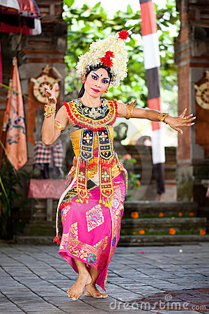 Barong Dancer. Bali, Indonesia Editorial Stock Image