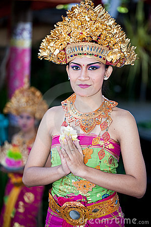 Barong Dancer. Bali, Indonesia Editorial Stock Photo