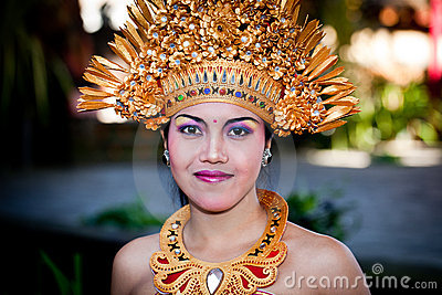 Barong Dancer Portrait. Bali, Indonesia Editorial Photography