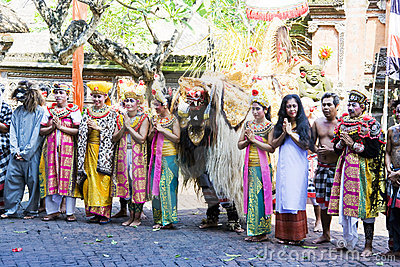 Barong Dancers, Bali, Indonesia Editorial Photography
