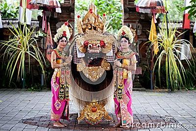 Barong dancers Bali Indonesia Editorial Photo