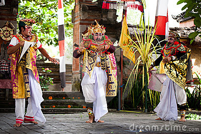 Barong perfomance actors Bali Indonesia Editorial Image