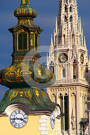 Free Baroque And Gothic Arhitecture, Zagreb, Croatia Royalty Free Stock Photography - 67718757