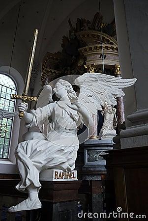 Free Baroque: Angel Raphael Sculpture Stock Photos - 42233863