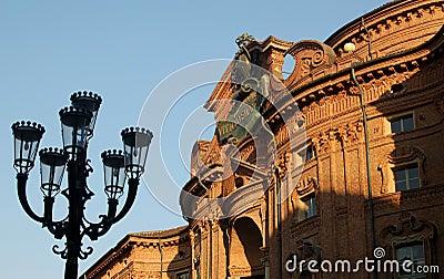 Baroque Carignano palace in Turin, Italy