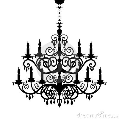 Free Baroque Chandelier Silhouette Royalty Free Stock Images - 19201949