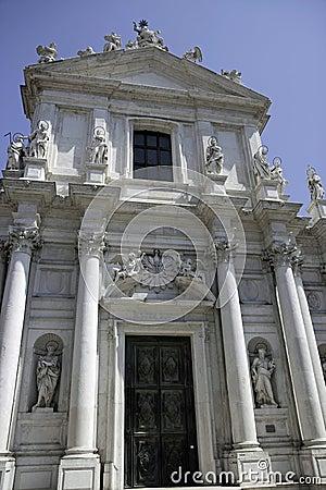 Baroque church Chiesa dei Gesuiti, Venice