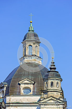 Free Baroque Church Dome In Monastery Stock Image - 57977241