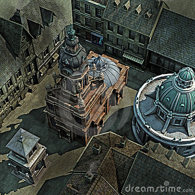 Free Baroque City Roof Top Royalty Free Stock Photos - 19760668