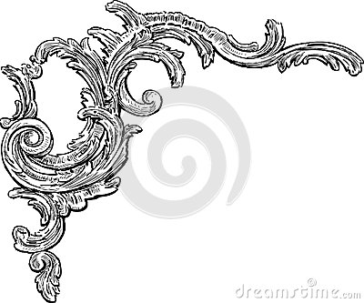 Baroque decorative element