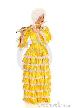 Baroque Flautist Royalty Free Stock Photo - Image: 9773975