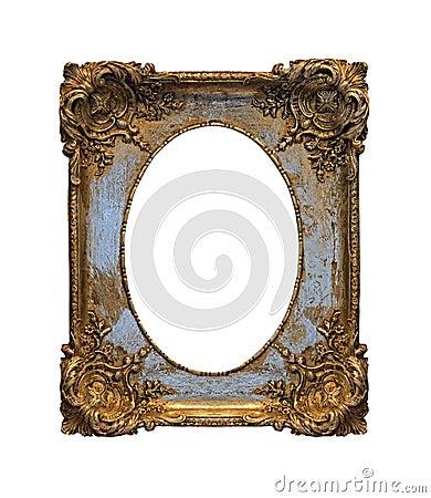 Baroque grunge frame