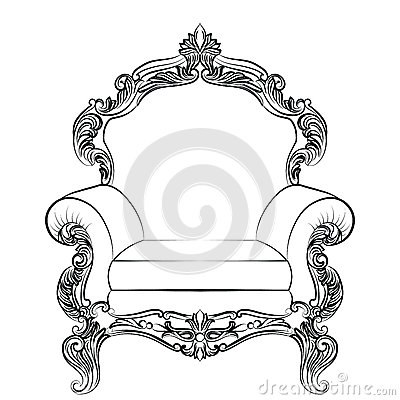 Free Baroque Luxury Style Armchair Furniture Royalty Free Stock Photo - 75794565