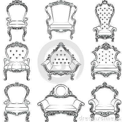 Free Baroque Luxury Style Armchair Furniture Set Stock Image - 75795171