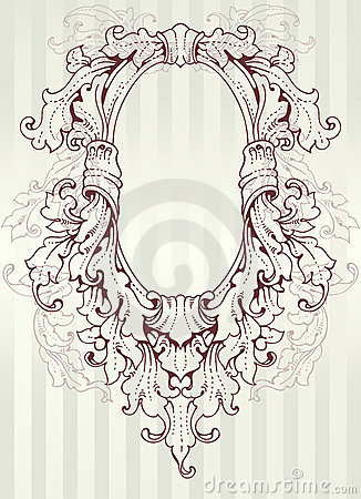 Baroque Oval Frame Royalty Free Stock Image Image 23744896
