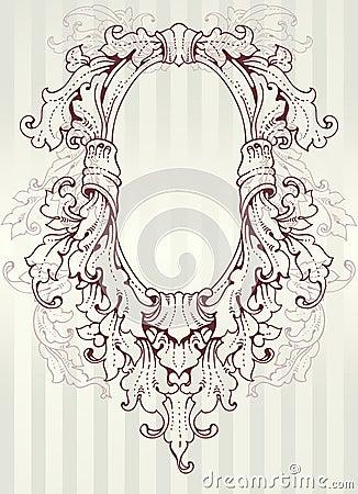 Baroque oval frame