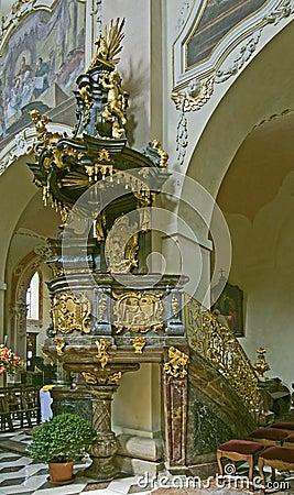 Baroque pulpit